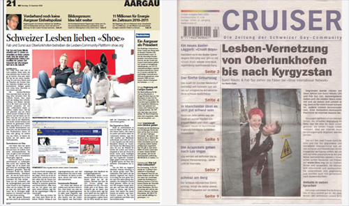 shoe lesben community in den medien
